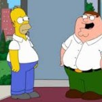 Homer Simpson meets Peter Griffin!