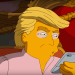 Homer Simpson und Donald Trump